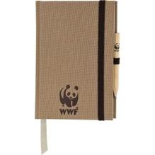 Notizbuch Leinen WWF160055S00 A6 kariert +Prägung