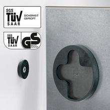 Glas-Magnetboard artverum LED GL406 910x460x15mm Sichtbeton