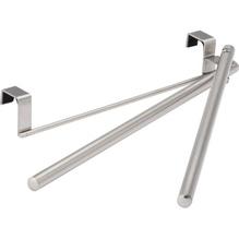 WENKO Tür-Handtuchhalter 79174500 Schwenkarme silber