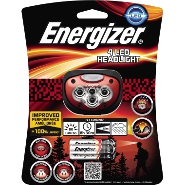 Energizer Stirnlampe Headlight 631637 4xLED +Batterien
