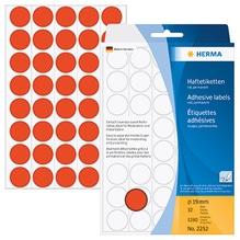 HERMA Markierungspunkt 2252 19mm Papier rot 1.280 St./Pack.