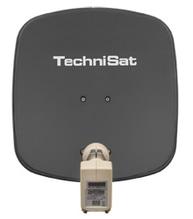DigitalSat-Antenne DigiDish 45 Universal-Twin-LNB schiefergrau