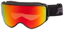 Skibrille / Snowboardbrille Relax BROAD Mattschwarz/Rot
