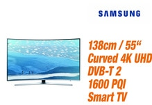 Samsung UE 55 KU 6679 Curved 4K Ultra HD TV EEK: A