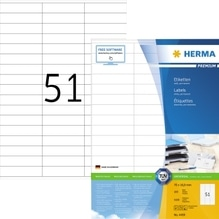 HERMA Etikett PREMIUM 4459 70x16,9mm weiß 5.100 St./Pack.