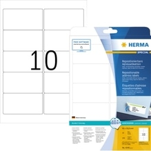 HERMA Etikett Movables 4349 96x50,8mm weiß 250 St./Pack.