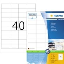 HERMA Etikett PREMIUM 4474 48,5x25,4mm weiß 4.000 St./Pack.