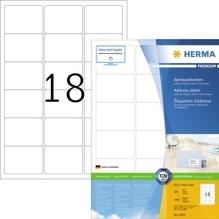 HERMA Etikett PREMIUM 4265 63,5x46,6mm weiß 1.800 St./Pack