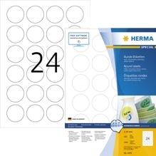 HERMA Etikett Movables 4476 40mm rund weiß 2.400 St./Pack.