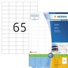 HERMA Etikett PREMIUM 4606 38,1x21,2mm weiß 13.000 St./Pack.