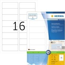 HERMA Adressetikett Premium 4479 88,9x33,8mm weiß 1.600 St./Pack.