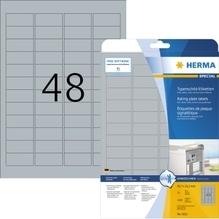 HERMA Typenschildetikett 4221 45,7x21,2mm silber 1.200 St./Pack.