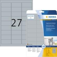 HERMA Typenschildetikett 4222 63,5x29,6 mm silber 675 St./Pack.