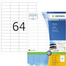 HERMA Etikett PREMIUM 4271 48,3x16,9mm weiß 6.400 St./Pack.