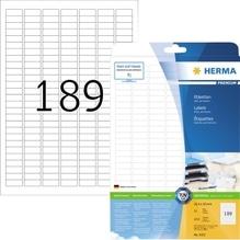 HERMA Etikett PREMIUM 4333 25,4x10 mm weiß 4.725 St./Pack.