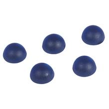 Acryl-Halbperlen, gefrostet, 6 mm ø, SB-Blister 48 Stück, d.blau