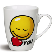 Nici Porzellan-Tasse Smileyworld 'I (heart) YOU' ø 8x10cm