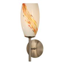 Glas Wandfackel Lampe ovale Wandleuchte mit Dekor