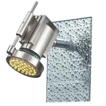 Glas LED Wandstrahler Eckig mit Tropfendekor 1 flammig