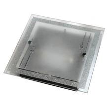 Glas Deckenleuchte eckig mit Deko Glitzer Domino