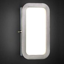 Ovale LED Wandleuchte mit Schalter in Nickel matt