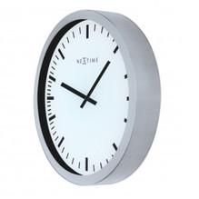 Design 3D Wanduhr Glas Silber 35cm Quartz Uhr Magic 3031