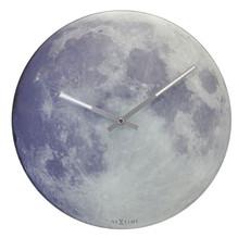 Glas Wanduhr beleuchtet Nextime Blue Moon rund