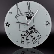 Glas Wanduhr Rund Ziffernblatt Uhrzeiger Mebus 17775