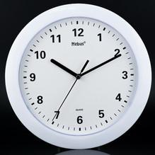 Wanduhr Rund weiß Ziffernblatt Uhrzeiger Mebus 13440