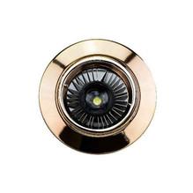 Einbaustrahler Gold GU10 230V flach rund messing