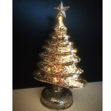 Glas Design Beleuchteter LED Weihnachtsbaum Batterie