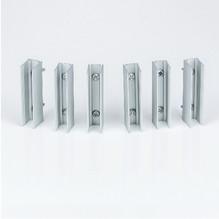 6er Pack Befestigungshalter Alu für LED Neon Flex Lichtschlauch