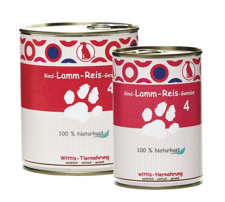 BARF in Dosen gegart - Dosenmenü für Hunde