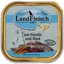 Landfleisch Cat Schlemmertopf Forelle u, Rind 100g
