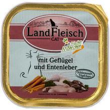 Landfleisch Cat Schlemmertopf Geflügel u. Entenleber 30x100g