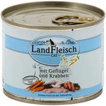 Landfleisch Cat Schlemmertopf Geflügel u. Krabben 12x195g