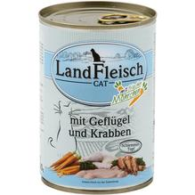 Landfleisch Cat Schlemmertopf Geflügel u. Krabben 12x400g