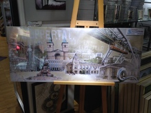 Wuppertal Foto Collage auf Leinwand 50 x 120