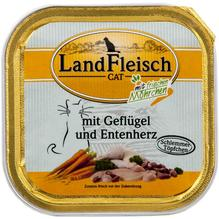 Landfleisch Cat Schlemmertopf Geflügel u. Entenherz 30x100g