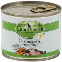 Landfleisch Cat Schlemmertopf Geflügelherzen u. Wild 195g