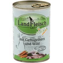 Landfleisch Cat Schlemmertopf Geflügelherzen u. Wild 12x400g
