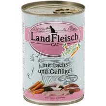 Landfleisch Cat Schlemmertopf Lachs u. Geflügel 12x400g