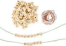 Buchstabenwürfel / Perlen zum Auffädeln