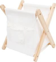praktischer Wollkorb / Klappbehälter aus Stoff