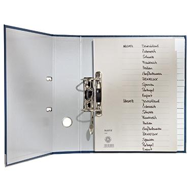 Leitz Register 12060085 A-Z DIN A5 24x14cm 20teilig Papier grau