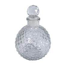 Glasflakon Kugel, 3x8x9,5cm, mit Acrylpfropfen, 225ml