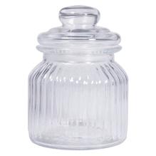 Vorratsglas, gerillt, 11cm ø, 15cm, mit Deckel, 625ml