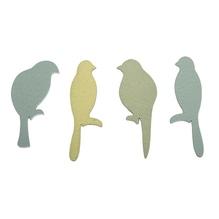 Holz-Streuteile Papagei, 1,7-2,2 x 4,7-5,2cm, SB-Btl 12Stück