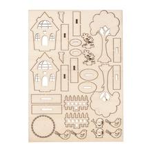 Holzbausatz Gartenhäuser, 29 Teile, SB-Btl 1Stück