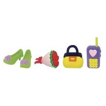 Ratze fun-Set Lifestyle, Blume,Tasche,Schuh,Handy, PVC-Box 4Stück